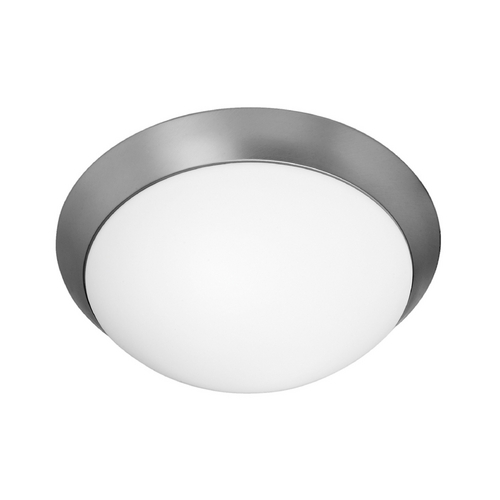Access Lighting Modern Flushmount Light with White Glass in Brushed Steel Finish 20624GU-BS/OPL