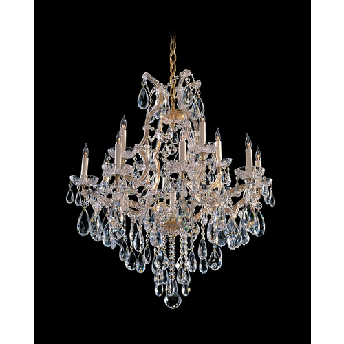 Crystorama Lighting Crystal Chandelier in Gold Finish 4413-GD-CL-S