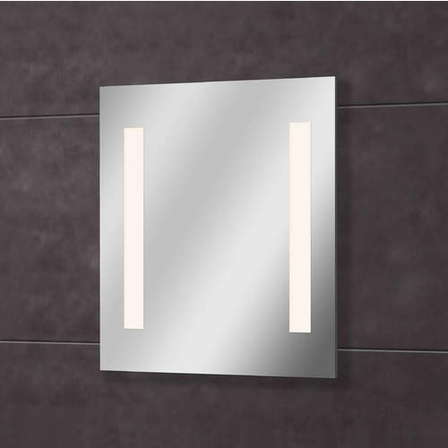 Design Classics Lighting Qute Rectangle 27-Inch Illuminated Mirror MR8008-WH