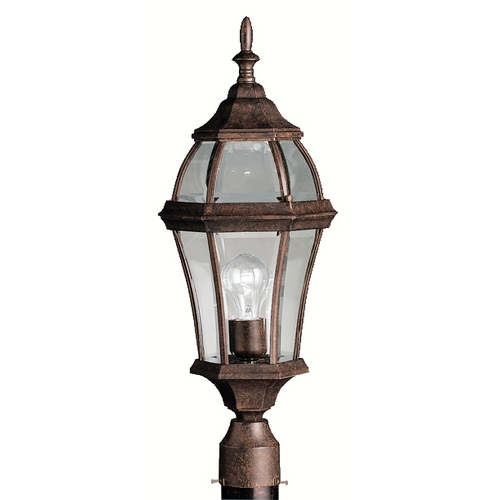 Kichler Lighting Kichler Post Light with Clear Glass in Tannery Bronze Finish 9992TZ