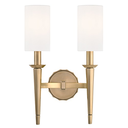 Hudson Valley Lighting Tioga 2 Light Sconce - Aged Brass 8882-AGB
