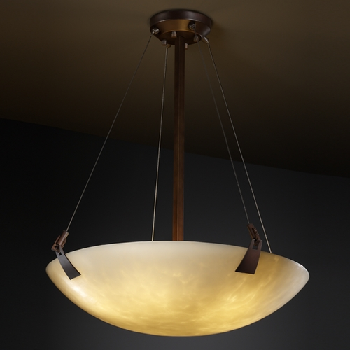 Justice Design Group Justice Design Group Clouds Collection Pendant Light CLD-9647-35-DBRZ