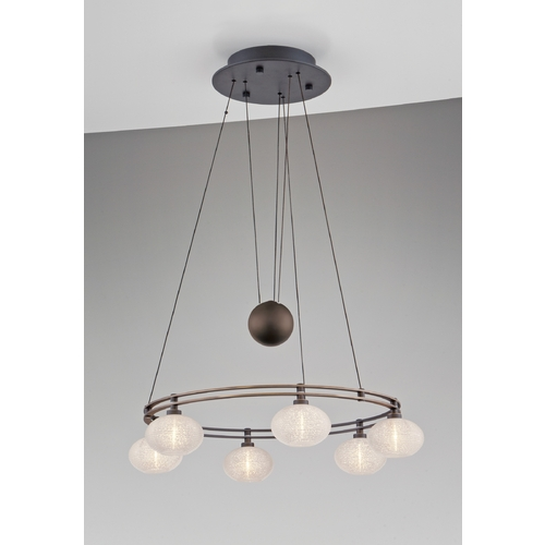 Holtkoetter Lighting Holtkoetter Modern Low Voltage Pendant Light with White Glass in Hand-Brushed Old Bronze Finish 5556 HBOB G5036