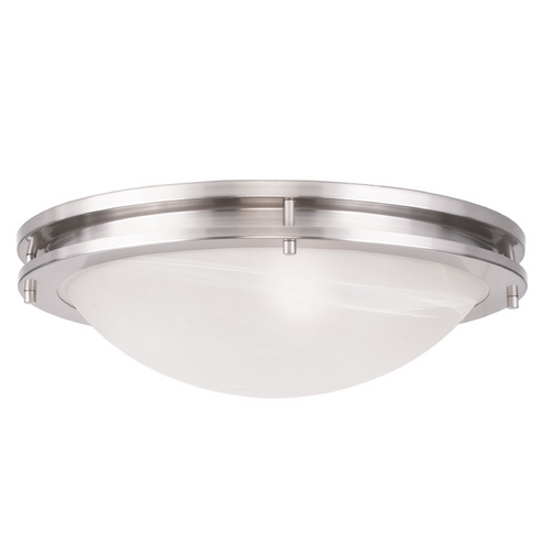 Livex Lighting Livex Lighting Ariel Brushed Nickel Flushmount Light 7059-91