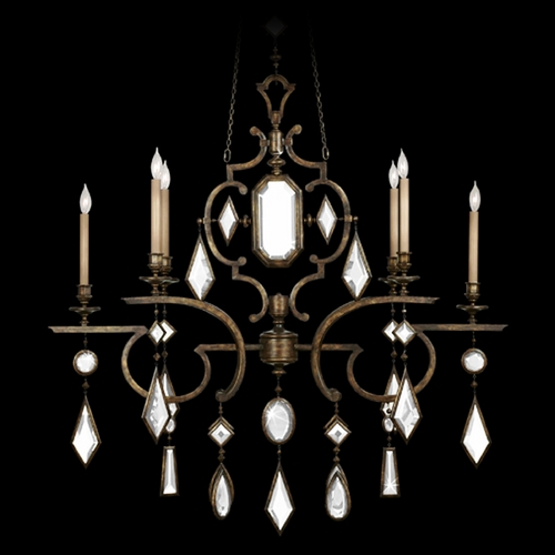 Fine Art Lamps Fine Art Lamps Encased Gems Bronze Patina Crystal Chandelier 708940-1ST