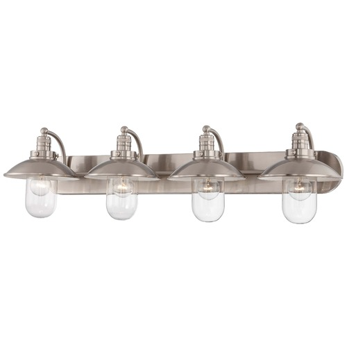 Minka Lavery Minka Downtown Edison Brushed Nickel Bathroom Light 5134-84