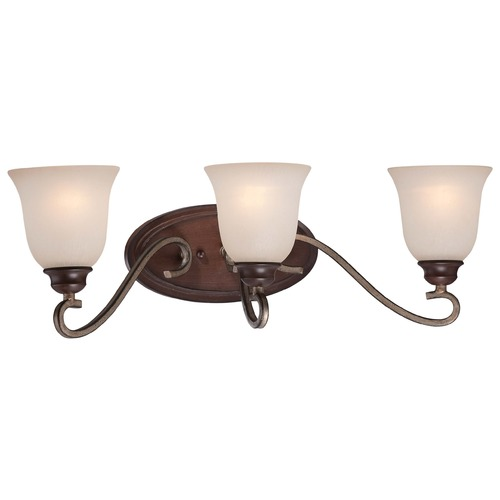 Minka Lavery Minka Gwendolyn Place Dark Rubbed Sienna with Aged Silver Bathroom Light 5353-593