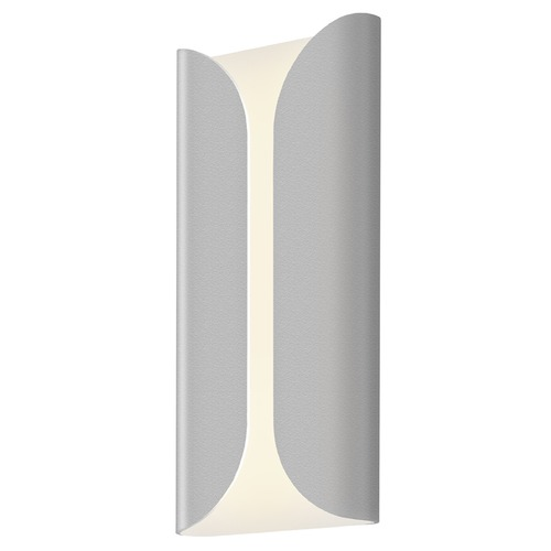 Sonneman Lighting Sonneman Folds Textured Gray LED Outdoor Wall Light 2711.74-WL