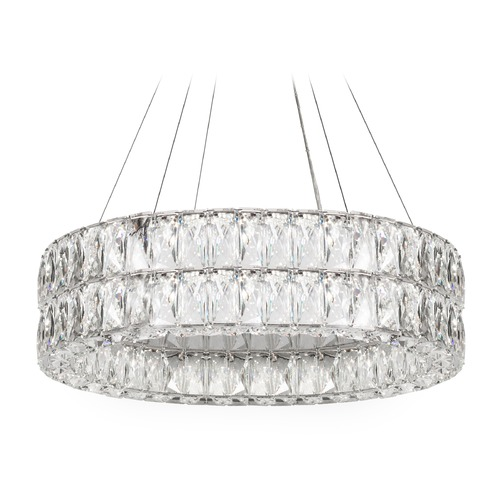 Kuzco Lighting Crystal Chrome LED Chandelier with Clear Shade 4000K 4100LM CH78232(4000K)