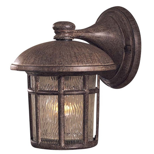 Minka Lavery Outdoor Wall Light with Clear Glass in Vintage Rust Finish 8251-61