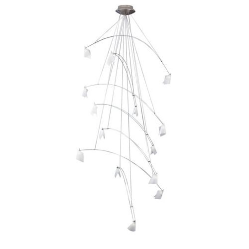 Tech Lighting Tech Crescendo Chandelier Satin Nickel Chandelier 12V 700CRES36S