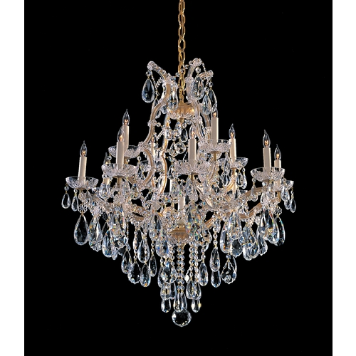Crystorama Lighting Crystal Chandelier in Gold Finish 4413-GD-CL-SAQ