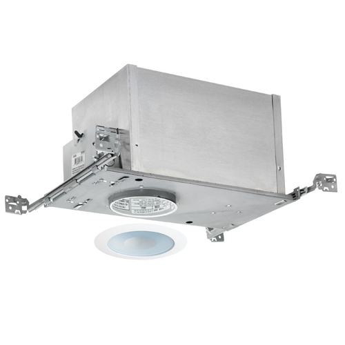 Juno Lighting Group 4-inch Low-Voltage Recessed Lighting Kit with Shower Trim IC44N/441W-WH