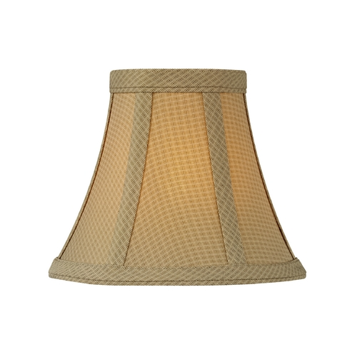 Design Classics Lighting Brown Bell Lamp Shade with Clip-On Assembly SH9560
