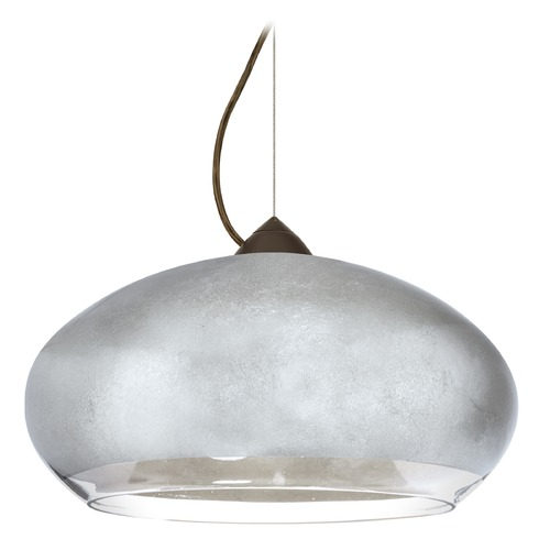 Besa Lighting Besa Lighting Brio Bronze LED Pendant Light with Oblong Shade 1KX-4345SF-LED-BR