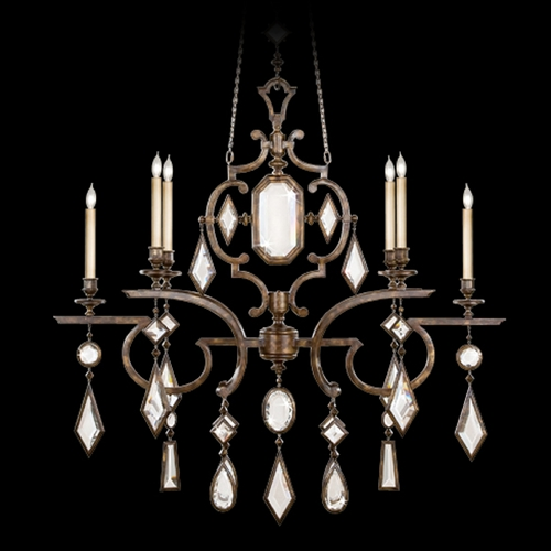 Fine Art Lamps Fine Art Lamps Encased Gems Bronze Patina Crystal Chandelier 708940-3ST