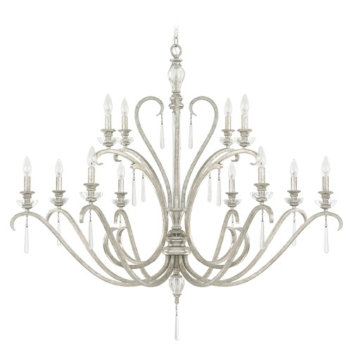 Capital Lighting Capital Lighting Celine Antique Silver Crystal Chandelier 4782AS-000