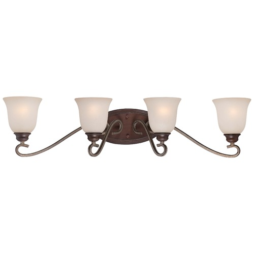 Minka Lavery Minka Gwendolyn Place Dark Rubbed Sienna with Aged Silver Bathroom Light 5354-593