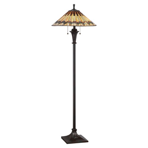 Quoizel Lighting Quoizel Lighting Alcott Valiant Bronze Floor Lamp with Conical Shade TFAT9362VA