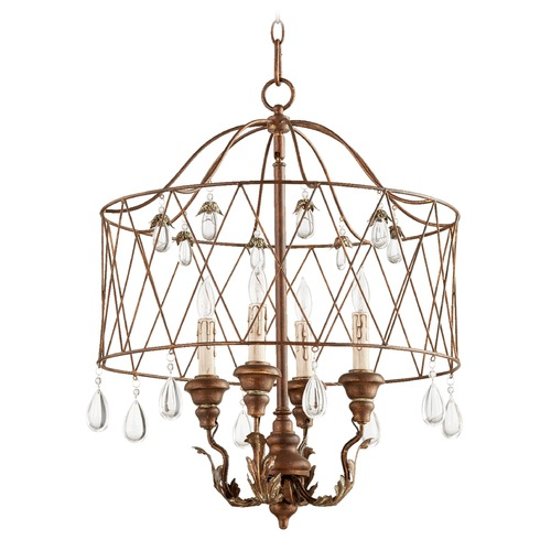 Quorum Lighting Quorum Lighting Venice Vintage Copper Pendant Light 6744-4-39