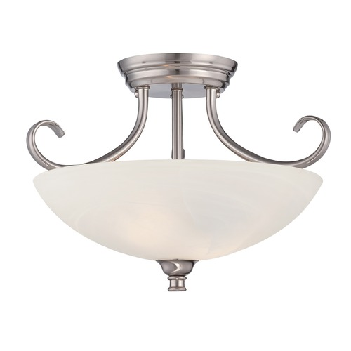 Designers Fountain Lighting Designers Fountain Kendall Satin Platinum Semi-Flushmount Light 85111-SP