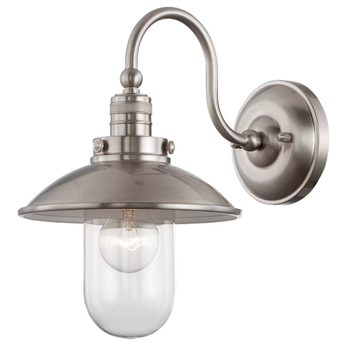 Minka Lavery Downtown Edison Brushed Nickel Sconce 71162-84