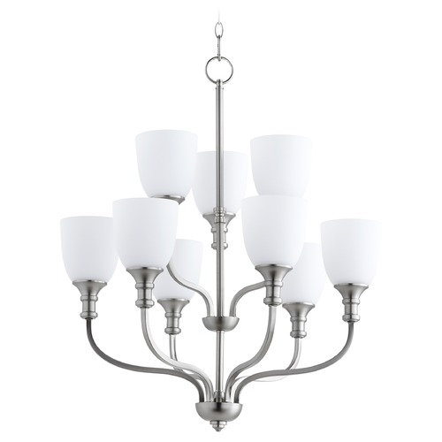 Quorum Lighting Quorum Lighting Richmond Satin Nickel Chandelier 6811-9-65