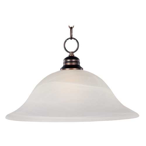 Maxim Lighting Maxim Lighting Essentials Oil Rubbed Bronze Pendant Light with Bell Shade 91076MROI