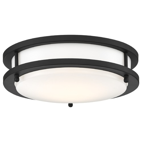 Nuvo Lighting Nuvo Lighting Glamour Black LED Flushmount Light 62/1435