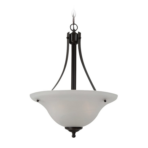 Sea Gull Lighting Pendant Light with Alabaster Glass in Heirloom Bronze Finish 65941BLE-782