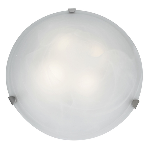 Access Lighting Modern Flushmount Light with Alabaster Glass in Brushed Steel Finish 23021GU-BS/ALB