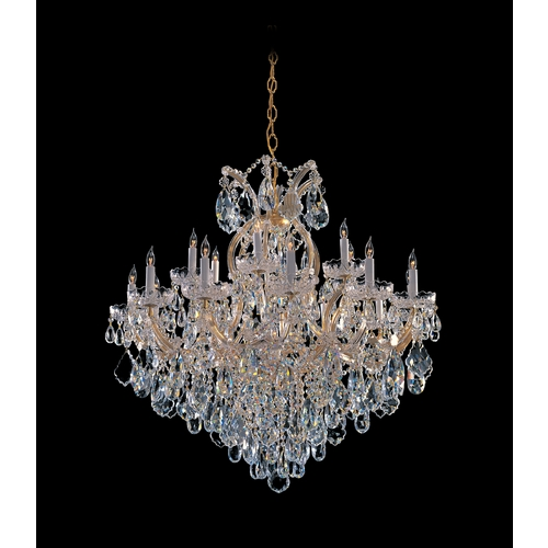 Crystorama Lighting Crystal Chandelier in Gold Finish 4418-GD-CL-MWP
