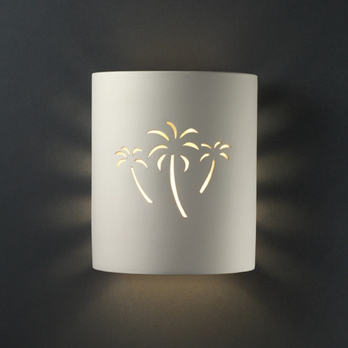 Justice Design Group Sconce Wall Light in Bisque Finish CER-9010-BIS