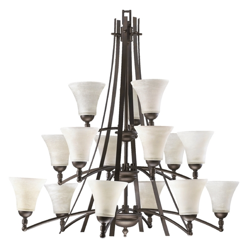 Quorum Lighting Quorum Lighting Aspen Oiled Bronze Chandelier 6177-15-86