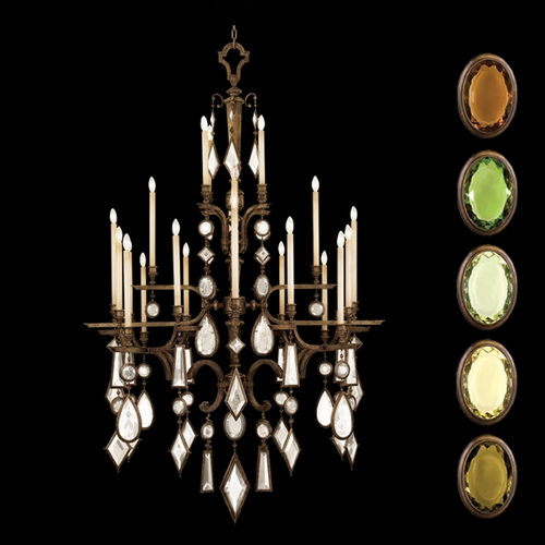 Fine Art Lamps Fine Art Lamps Encased Gems Bronze Patina Crystal Chandelier 709440-1ST