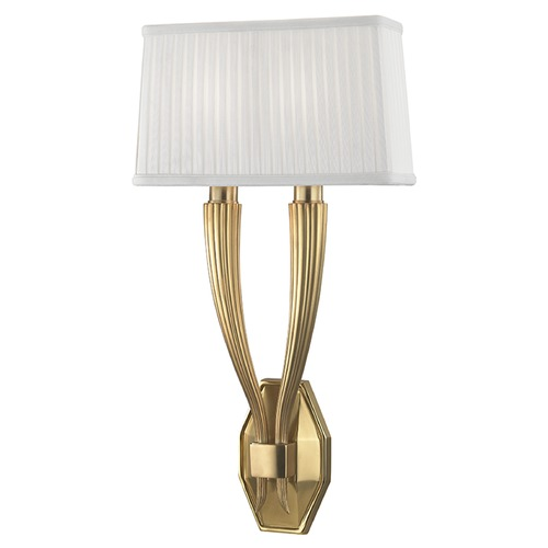 Hudson Valley Lighting Erie 2 Light Sconce - Aged Brass 3862-AGB