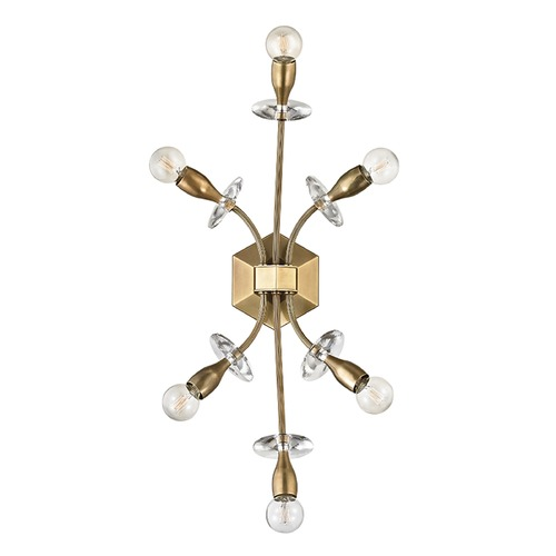 Hudson Valley Lighting Hudson Valley Lighting Alexandria Aged Brass Sconce 2706-AGB