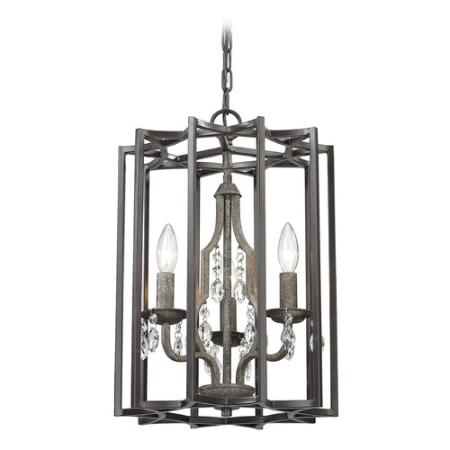 Elk Lighting Elk Lighting Belgique Oil Rubbed Bronze, Malted Rust Pendant Light 32150/3