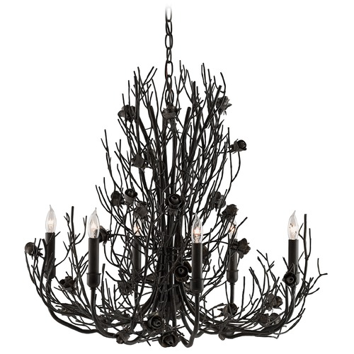 Currey and Company Lighting Currey and Company Epine Black Iron Chandelier 9000-0044