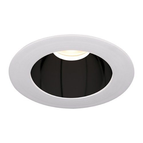 WAC Lighting WAC Lighting Round Black White 3.5-Inch LED Recessed Trim 3000K 1195LM 18 Degree HR3LEDT118PS830BWT