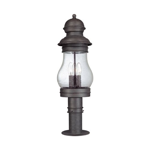 Troy Lighting Post Light with Clear Glass in Hyannis Port Bronze Finish P1886HPB