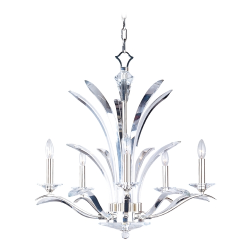Maxim Lighting Crystal Chandelier in Plated Silver Finish 39948BCPS
