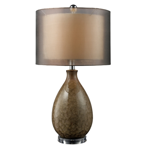 Elk Lighting Table Lamp with Brown Shade in Francis Fawn Finish D1717