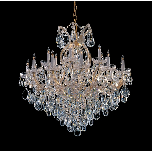 Crystorama Lighting Crystal Chandelier in Gold Finish 4418-GD-CL-S