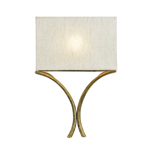 Currey and Company Lighting Modern Sconce Wall Light in French Gold Leaf Finish 5901