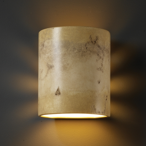 Justice Design Group Sconce Wall Light in Greco Travertine Finish CER-9010-TRAG