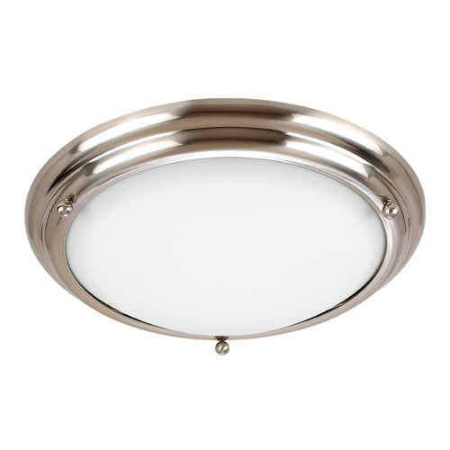 Sea Gull Lighting Sea Gull Lighting Centra Brushed Stainless LED Flushmount Light 7903491S-98