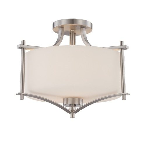 Savoy House Savoy House Satin Nickel Semi-Flushmount Light 6-334-2-SN