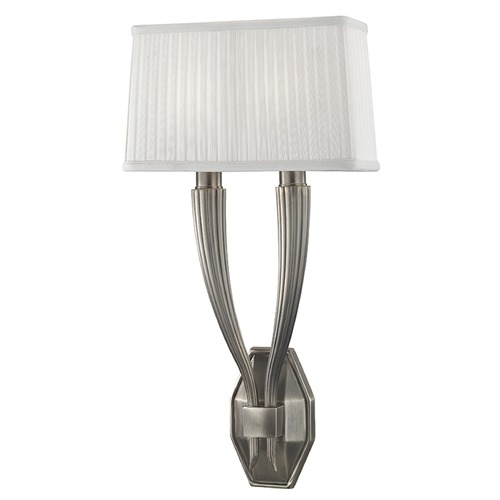 Hudson Valley Lighting Erie 2 Light Sconce - Historic Nickel 3862-HN