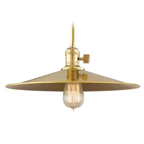 Hudson Valley Lighting Hudson Valley Lighting Heirloom Aged Brass Pendant Light with Coolie Shade 8002-AGB-MM1